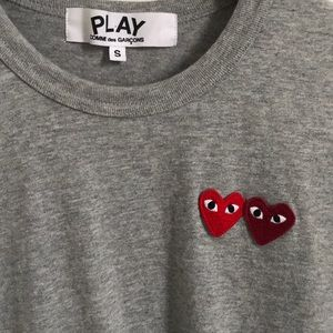 PLAY CDG Double Heart T-Shirt